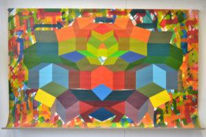 Geometria#1 2014 Acrylique sur toile 122x164cm