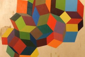 Geometria#2 2016 Acrylique sur bois 60x80cm.