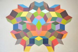 Geometria#3 2016 Acrylique sur carton 80x115cm