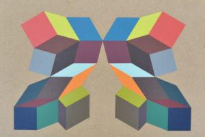Geometria#5 2016 Acrylique sur MDF 40x53cm