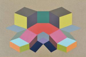Geometria#6 2016 Acrylique sur MDF 40x53cm