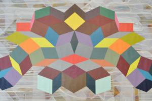 Geometria#7 2016 Acrylque sur toile 60x120-cm