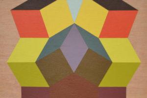 Geometria#8 2016 Acrylique sur bois 27x35cm