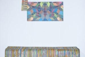Garage#1 2020 Structures en bois Acrylique sur toile, sur mdf et sur papier 150 x 180 x 40 cm