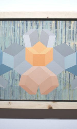 Geometria#10 2020 Acrylique sur toile 65 x 38,5 cm