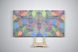 Geometria#9 2019 Acrylique sur toile 79,5 x 41,5 cm