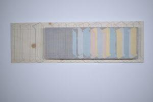 Pâle#1 2020 Acrylique et crayons sur mdf et bois de peuplier 80,2 x 35 x 10 cm