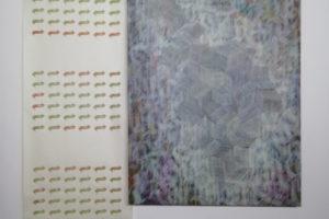 Struture i punto 2020 Acrylique et encre sur papier Sérigraphie surpapier 180 x 122 cm
