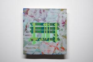 net 2020 Acrylique et encre sur toile 31,8 x 33,5 x 4,5cm Pièce unique